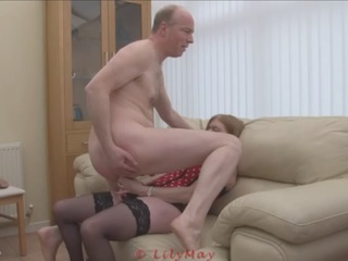 Lily May - Lily Pegging Slave John Video