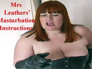 Mrs Leather - Follow Mrs Leathers Masturbation Instructions HD Video