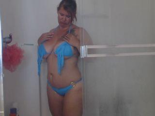 Busty Kris Ann - Blue Bathing Suit HD Video