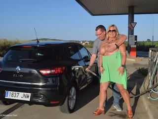 Nude Chrissy - Petrol Station Picture Gallery