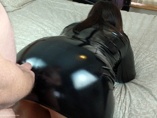 Mrs Leather - PVC Arse Gets Covered In Cum HD Video