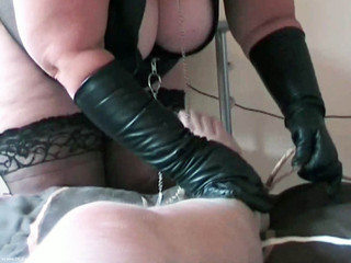Mrs Leather - Riding My Slave Pt1 HD Video