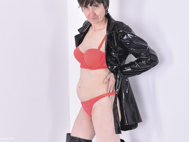 HotMilf - In Black Patent PVC Coat