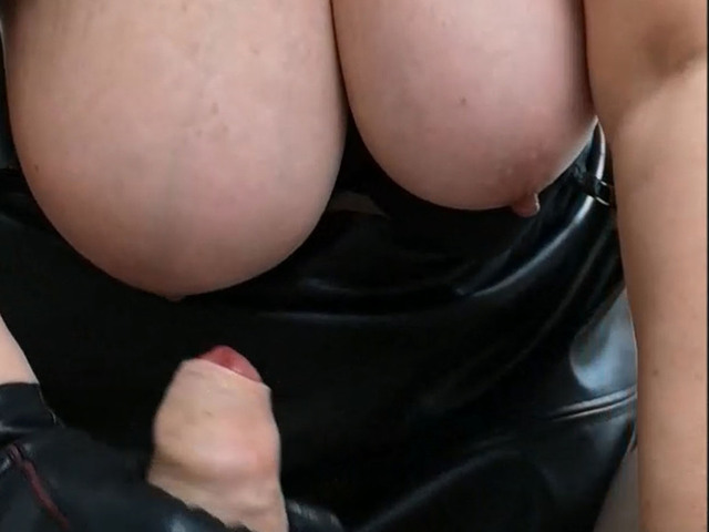 MrsLeather - Leather Gloved Handjob Pt2