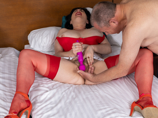 Juicey Janey - Fucked In Red Hot Stockings Pt1 Picture Gallery