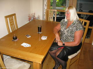 Chrissy UK - Playing Strip Poker Picture Gallery