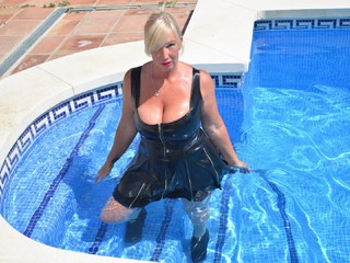 Melody - Getting Wet In PVC Pt2 Picture Gallery