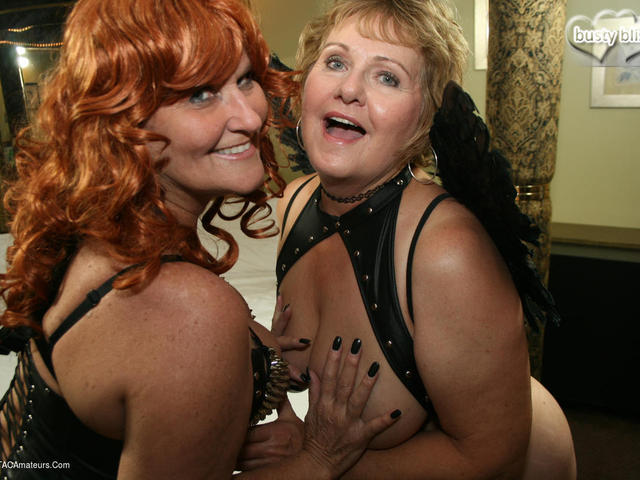 BustyBliss - Busty Bliss  Fire Hot Redhead Hotel Party