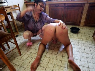 Mary Bitch - Whipped Slave In Kitchen Pt2 HD Video