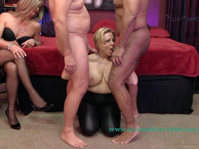 CurvyClaire - Claires Trans Spit Roast Orgy Pt1