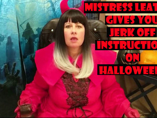 Mrs Leather - Jerk Off Instructions On Halloween HD Video