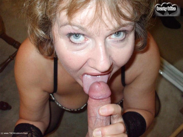 BustyBliss - Busty Cougar In Corset  Boots Pt2 Sucking That Hard Cock