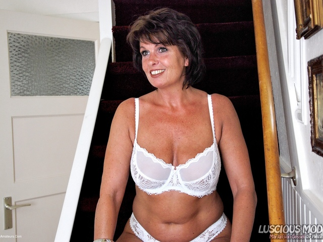 LusciousModels - Mature Lady M Stunning In White Pt2