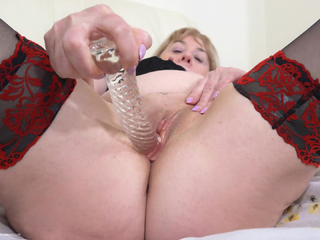 SpeedyBee - New Lingerie  3 Glass Dildos Pt4 HD Video
