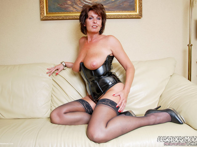 LusciousModels - Mature Lady M Awesome In Leather Pt1