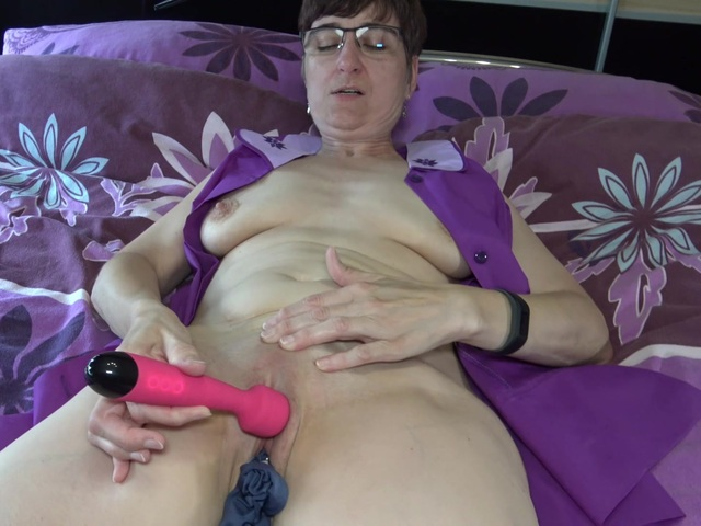 HotMilf - Blue Panty In Pussy