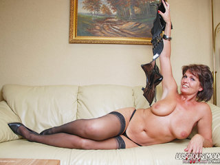 Luscious Models - Mature Lady M Awesome In Leather Pt3 Picture Gallery