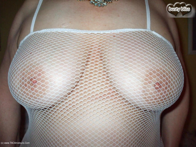 BustyBliss - Big Tits In White Mesh