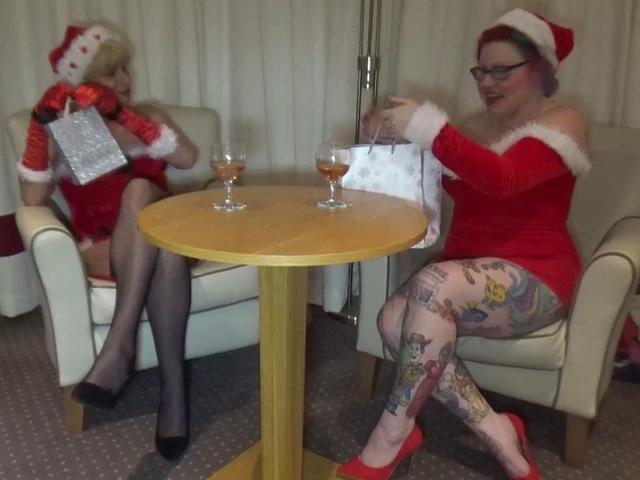 Dimonty - Lesbian Fun At Xmas Pt1