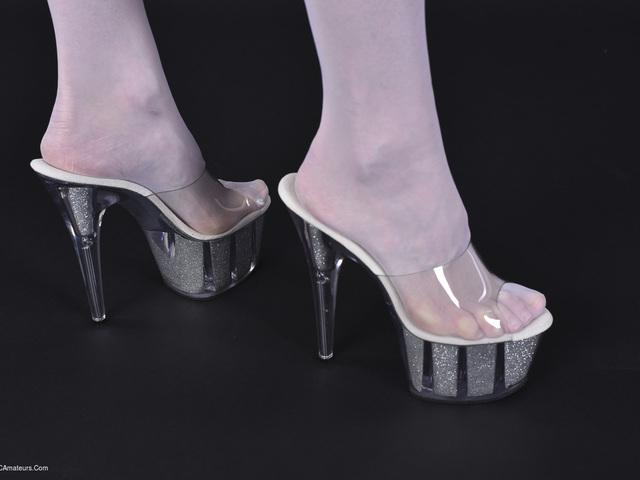 HotMilf - White Lingerie  Heels Pt2