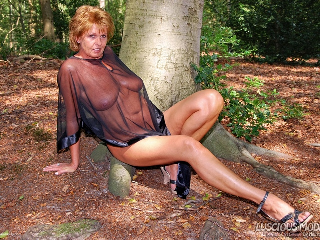 LusciousModels - Mature Lady M In The Forest Pt1