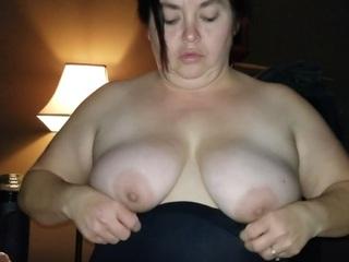 Sexy NE BBW - Little black dress bj and cum on tits pt1 HD Video