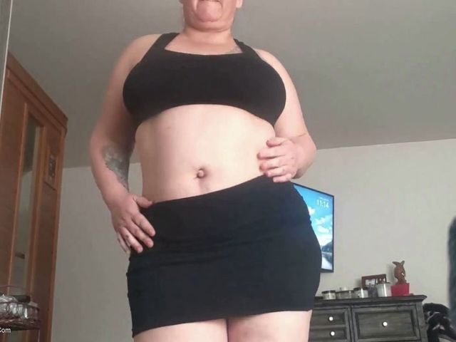 BustyKrisAnn - Black Skirt Tease