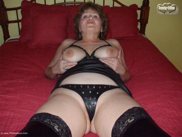 BustyBliss - Studded Bliss Rubber Leggings  Cum Pt2