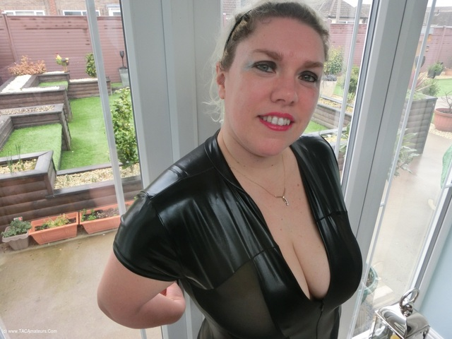 Barby - Wet Look Catsuit  The BBC Dildo