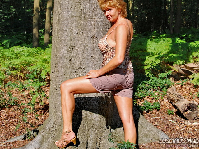 LusciousModels - Mature Lady M Smoking In The Forest Pt2