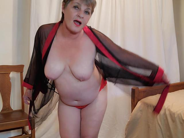 CougarBabeJolee - Sultry Goddess In Red Satin