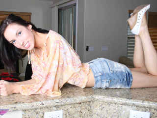 Heavenly Smut - Filthy slut on the kitchen island Picture Gallery