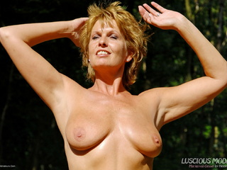 Luscious Models - Mature Lady M Smoking In The Forest Pt4 Picture Gallery