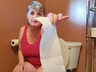 CougarBabe Jolee - Pissy Toilet Slave HD Video