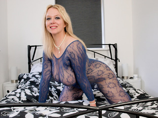 Sindy Bust - Purple Bodystocking Picture Gallery