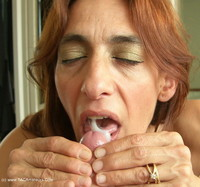 Dildo and cum swallowing