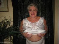 GirdleGoddess - White Satin & Sexy Panty Girdle