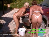 CurvyClaire - Car Wash Fun With Randy Raz Pt1