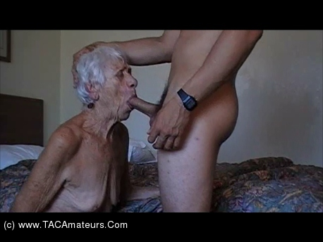 Sexy ❤ very old granny fuck two