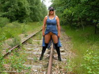 NudeChrissy - On The Tracks