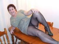 KinkyCarol - Tights On The Table