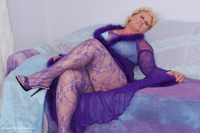 Purple Body Stocking