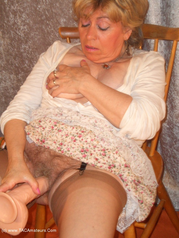 Fat grandma riding on young cock