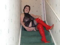 Red Thigh Boots & Stockin