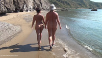 Walking Naked On The Beac
