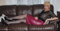 Purple Skirt, See Through Top