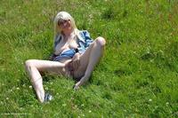 Barby Flashing in a park