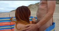 Barby's Beach Blowjob